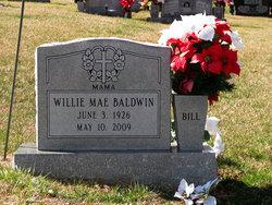 Willie Mae Bill <i>Barham</i> Baldwin
