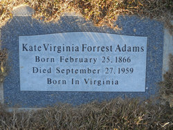 Kate Virginia <i>Forest</i> Adams
