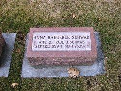 Anna <i>Baeuerle</i> Schwab