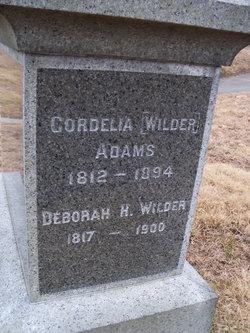 Cordelia <i>Wilder</i> Adams