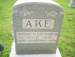 Jennie D <i>Calkins</i> Ake