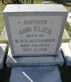 Ann Elizabeth <i>Dashiell</i> Alexander