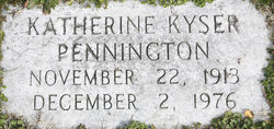 Katherine <i>Kyser</i> Pennington