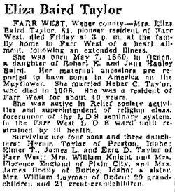 Eliza <i>Baird</i> Taylor