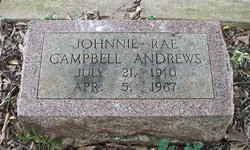 Johnnie Rae <i>Campbell</i> Andrews