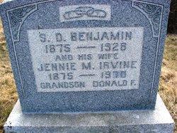 Jennie M <i>Irvine</i> Benjamin