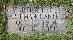 Martha Frost <i>Earthman</i> Cantrell