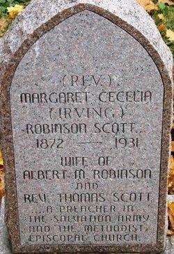 Rev Margaret Cecelia Maggie <i>Irving Robinson</i> Scott