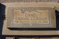 Carmel Anita <i>Caligari</i> Sturgeon