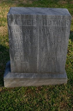 Martha L. Patsy or Mattie <i>Moffitt</i> Bray