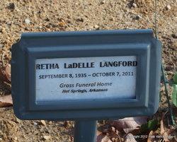 Retha Ladelle <i>Taylor</i> Langford