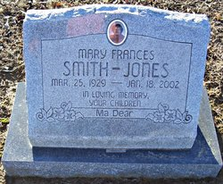 Mary Frances <i>Smith</i> Jones