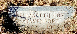 Elizabeth <i>Cox</i> Davenport