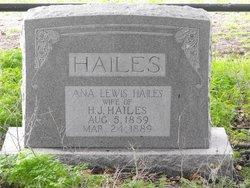 Anna Elizabeth <i>Lewis</i> Hailes