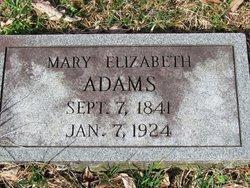 Mary Elizabeth <i>Dollins</i> Adams