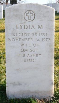 Lydia Matilda <i>Ellis</i> Ashby