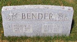 Bertha M <i>Wenger</i> Bender