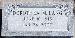 Dorothea M. <i>Cain</i> Lang