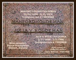 Julia V <i>Wylie</i> Holdeman