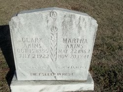 Martha Davis Mattie <i>Ridgeway</i> Akins