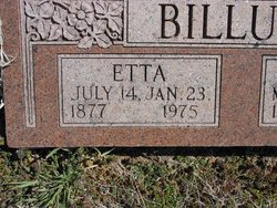 Etta <i>Morgan</i> Billups