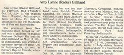 Amy Lynne <i>Rader</i> Gilliland