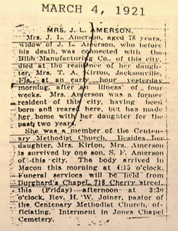 Frances S <i>Eads</i> Amerson