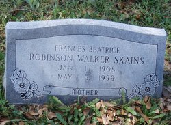 Frances Beatrice Robinson Walker Skains