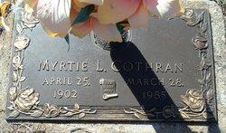 Myrtie <i>McCurley</i> Cothran