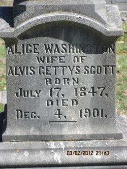 Alice <i>Washington</i> Scott