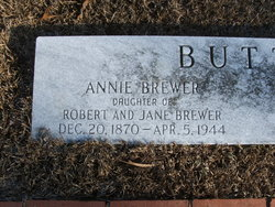 Annie Stacia Ethengain <i>Brewer</i> Butts