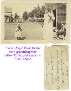 Sarah Angie <i>Davis</i> Beem