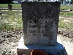 Sara Jane Sally Bowman