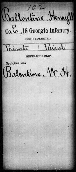Pvt Henry W. Ballentine