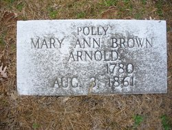 Mary Ann Polly <i>Brown</i> Arnold