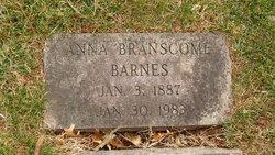 Anna <i>Branscome</i> Barnes