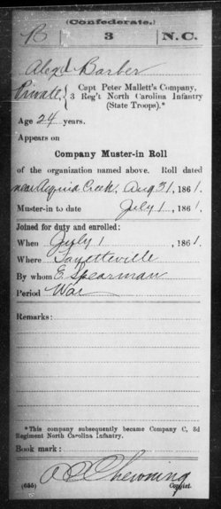 Pvt Alexander M. Barbour