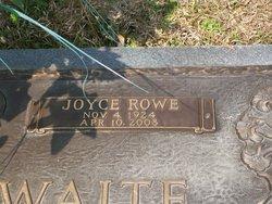 Joyce Evelyn <i>Rowe</i> Crosthwaite