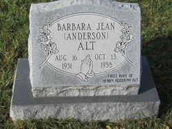 Barbara Jean <i>Anderson</i> Alt