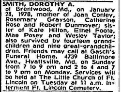 Dorothy Agnes <i>Taylor-Dunmoyer</i> Smith