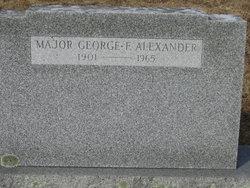 Maj George Francis Alexander