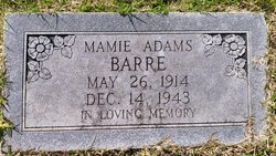 Mamie <i>Adams</i> Barre