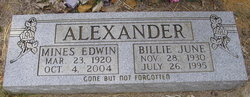 Billie June Alexander