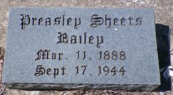Preasley Sheets Bailey