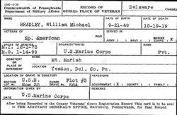 Pvt William Michael Bradley