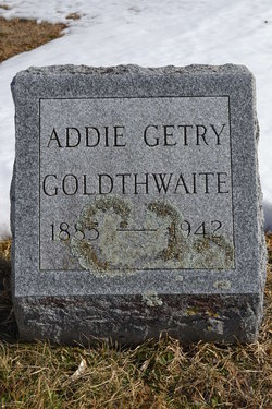 Addie <i>Getry</i> Goldthwaite