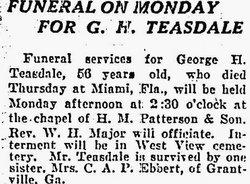George H Teasdale