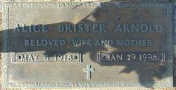 Alice <i>Brister</i> Arnold