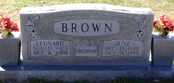 June <i>Hatcher</i> Brown