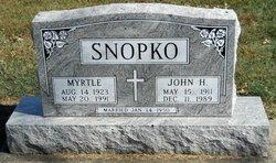 Myrtle F <i>Westwood</i> Snopko